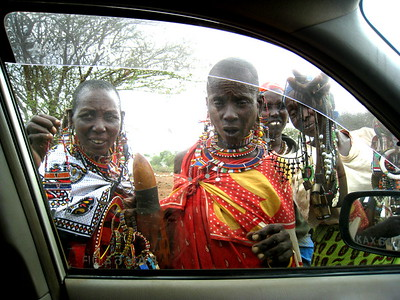 Watching Maasai in Kenya by Sarit Reizin